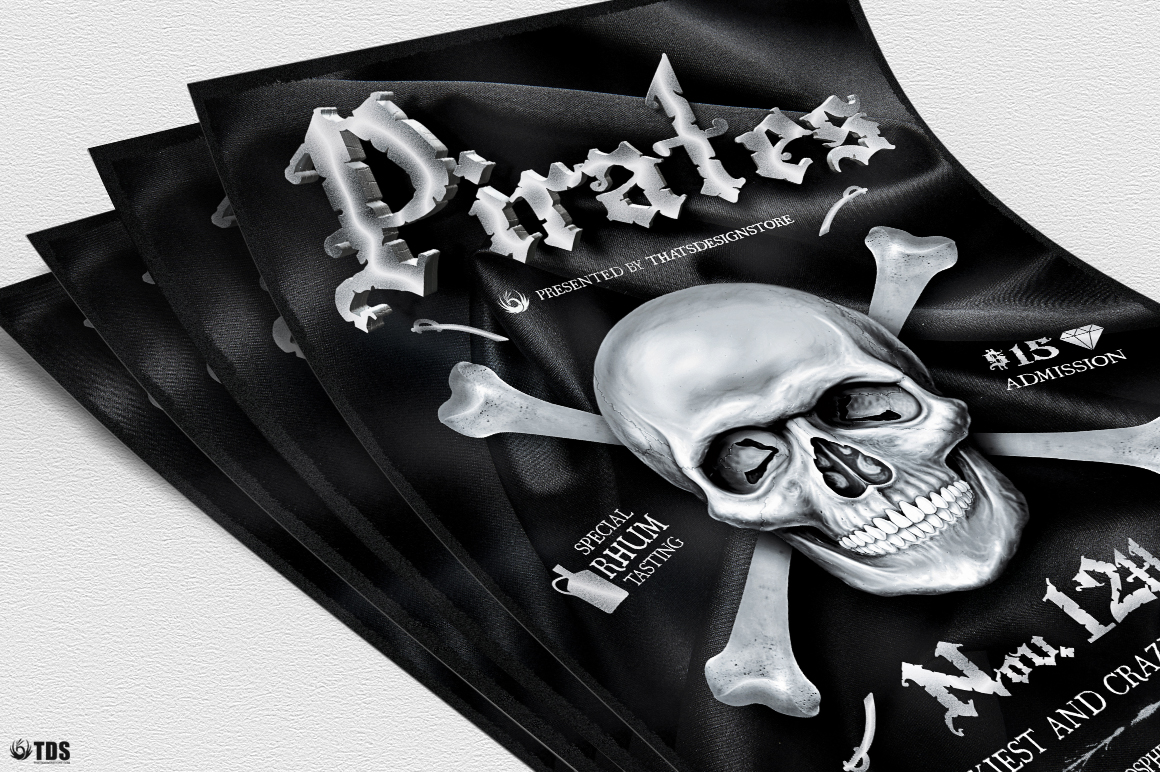 Pirates Party Flyer Template example image 5