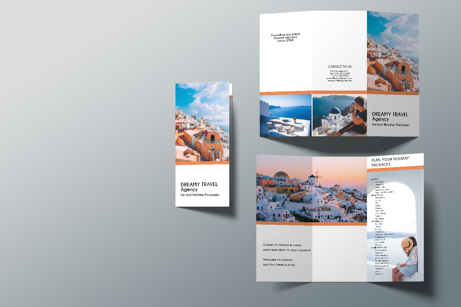 Trifold Travel Agency Brochure Templates A4 example image 6