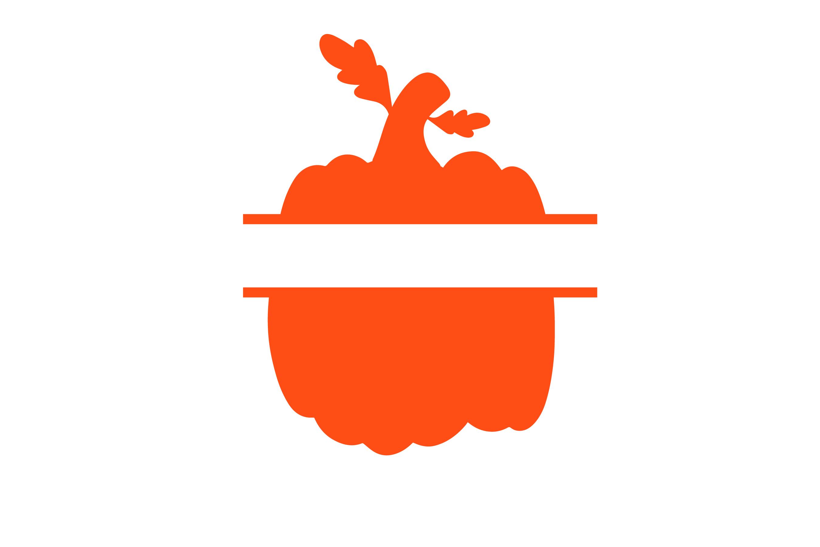 Pumpkin patch - Pumpkin Monogram 5 Designs SVG cut File example image 4