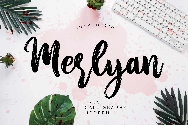 Merlyan Brush Calligraphy example image 1