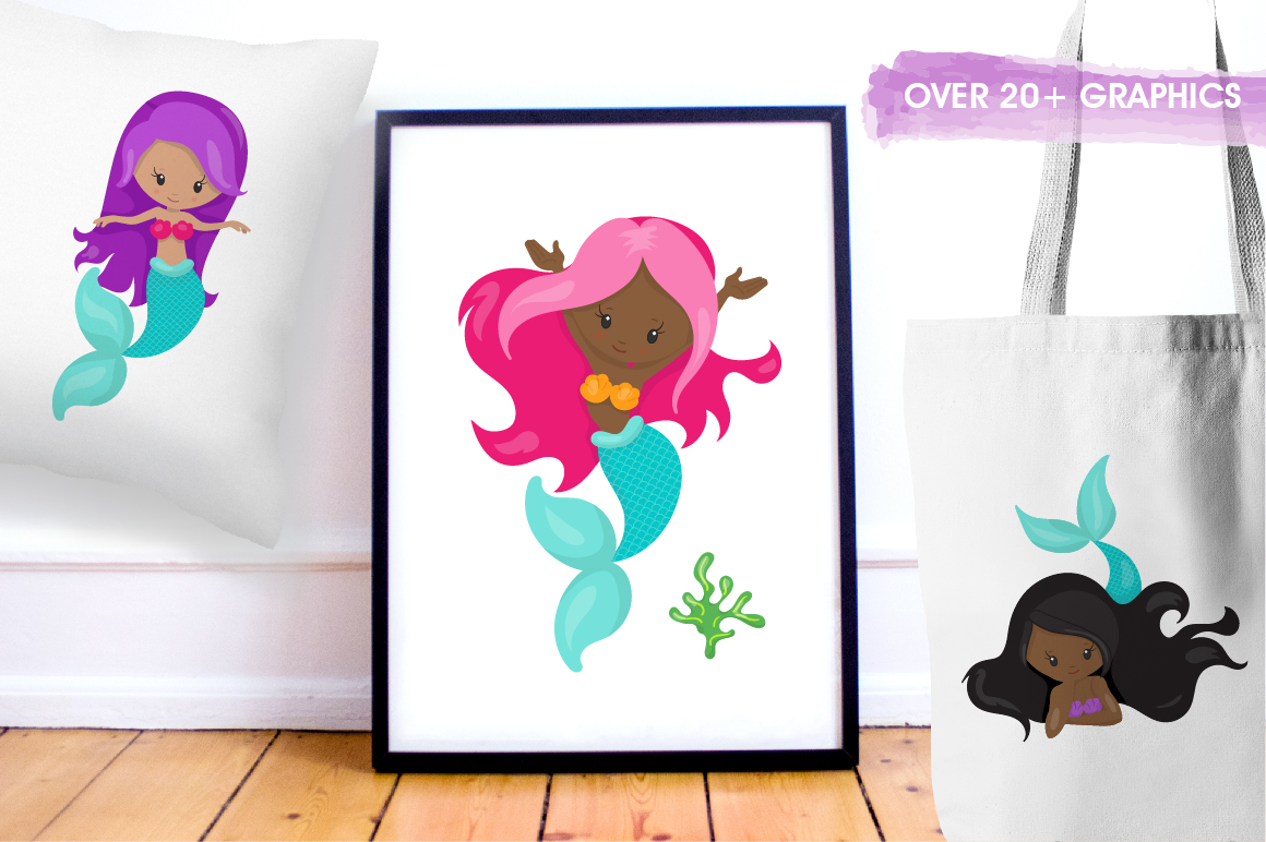 Mermaid Vibes graphic and illustrations example image 4