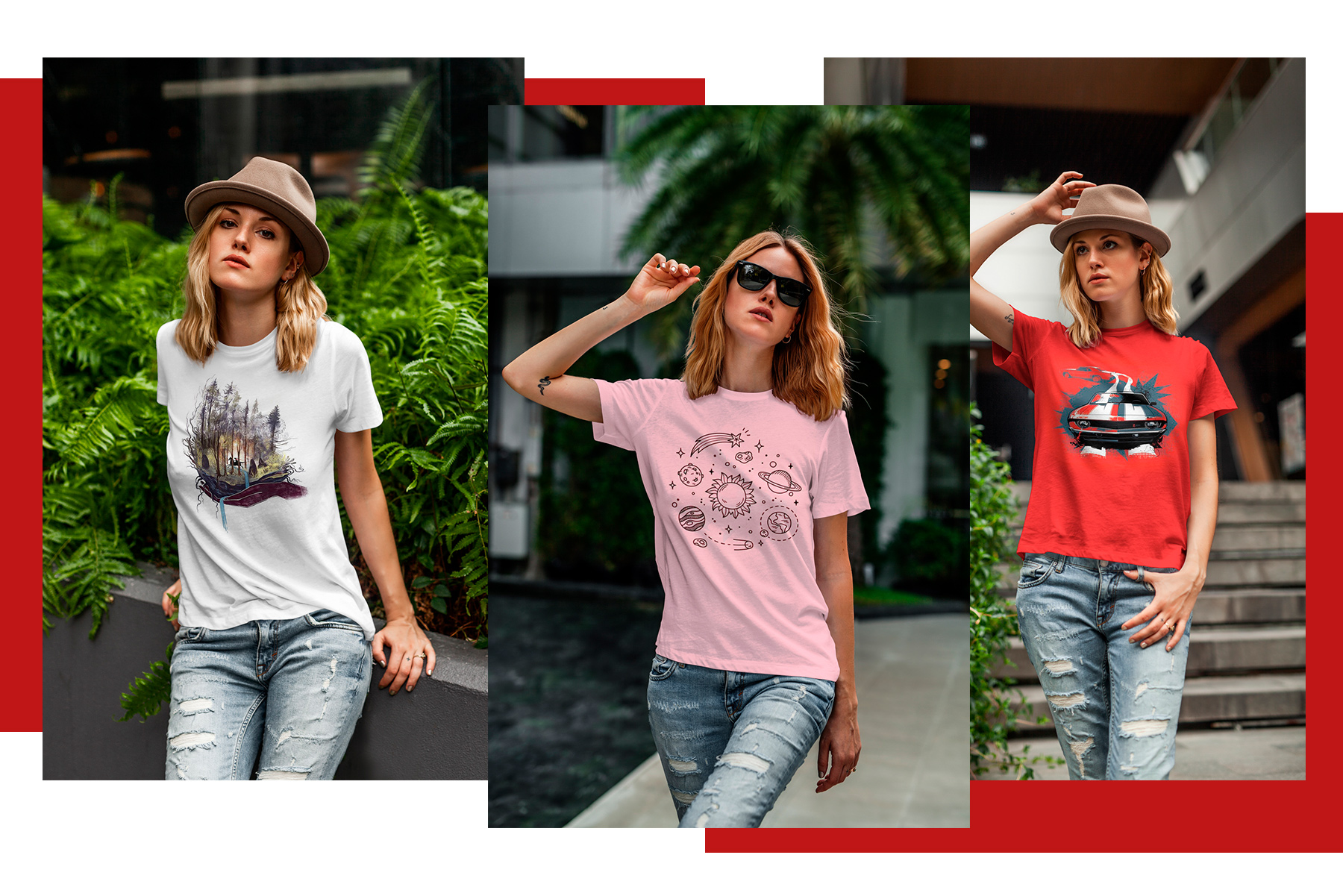 T-Shirt Mock-Up's Casual Girl example image 6