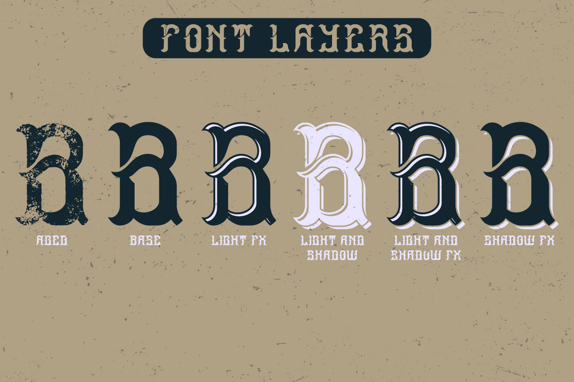 Ocean Storm label font example image 3
