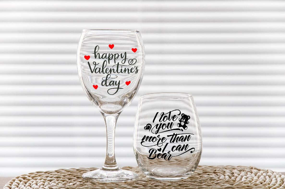 PSD stemless and wine glass mockup 2 wineglasses mockups example image 5