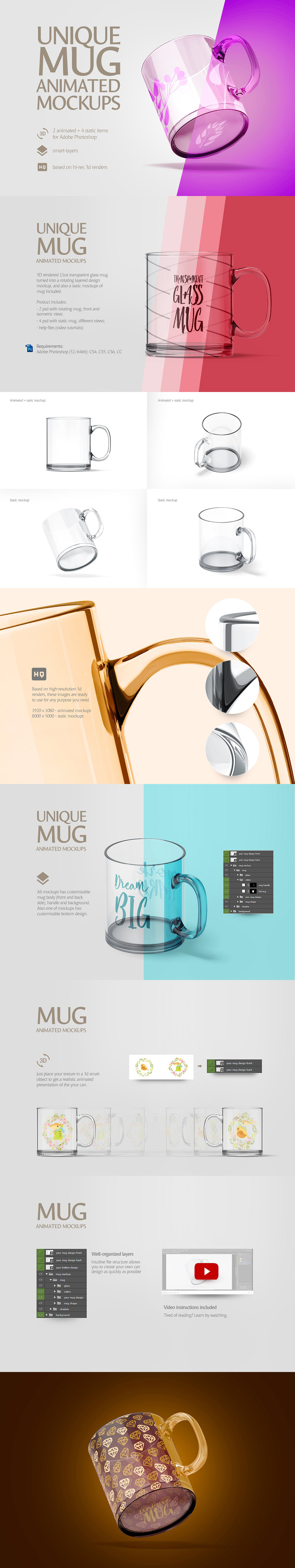 Mug Animated Mockups Bundle example image 4