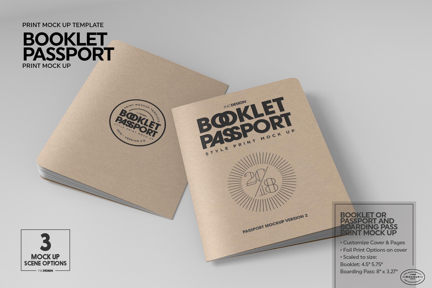 Booklet Passport Print MockUp example image 3