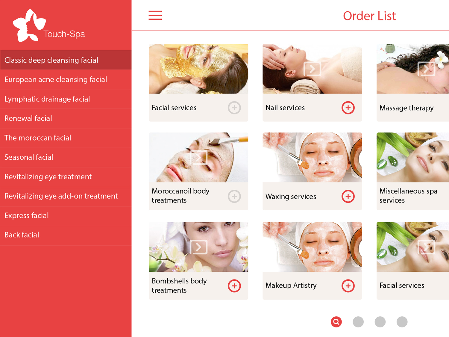 Touch Spa UI Kit example image 9