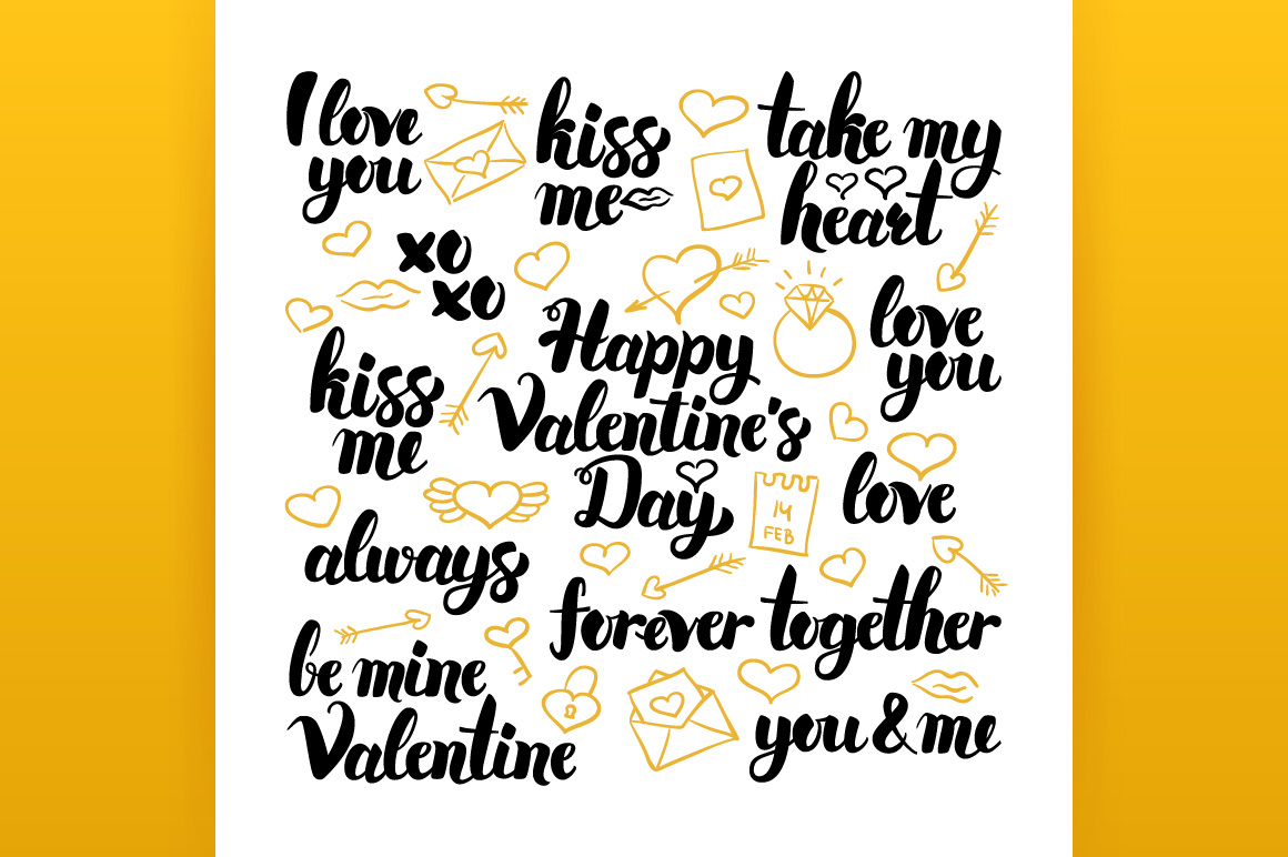 Happy Valentines Day Lettering example image 2