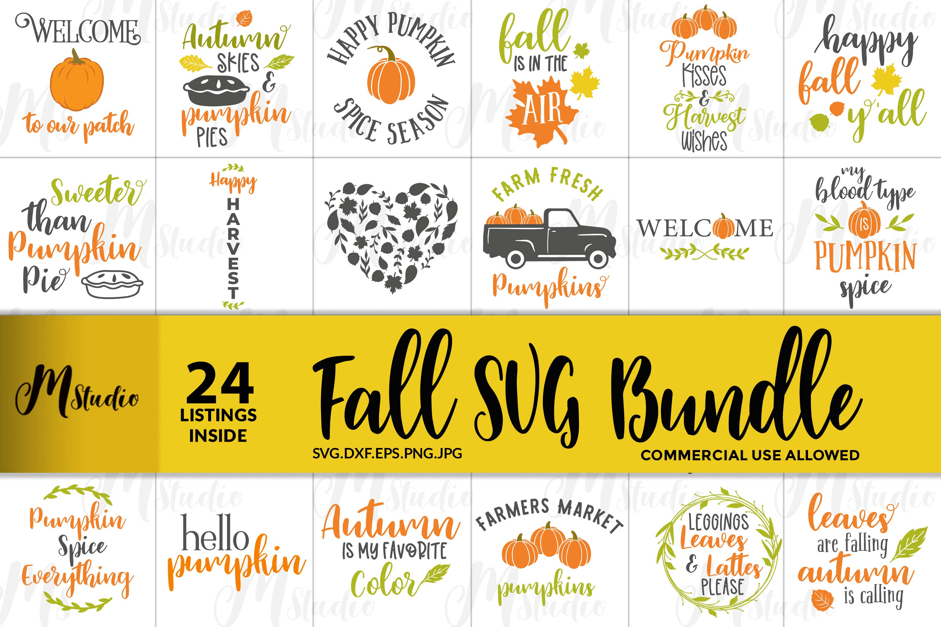 Fall SVG Bundle. example image 1