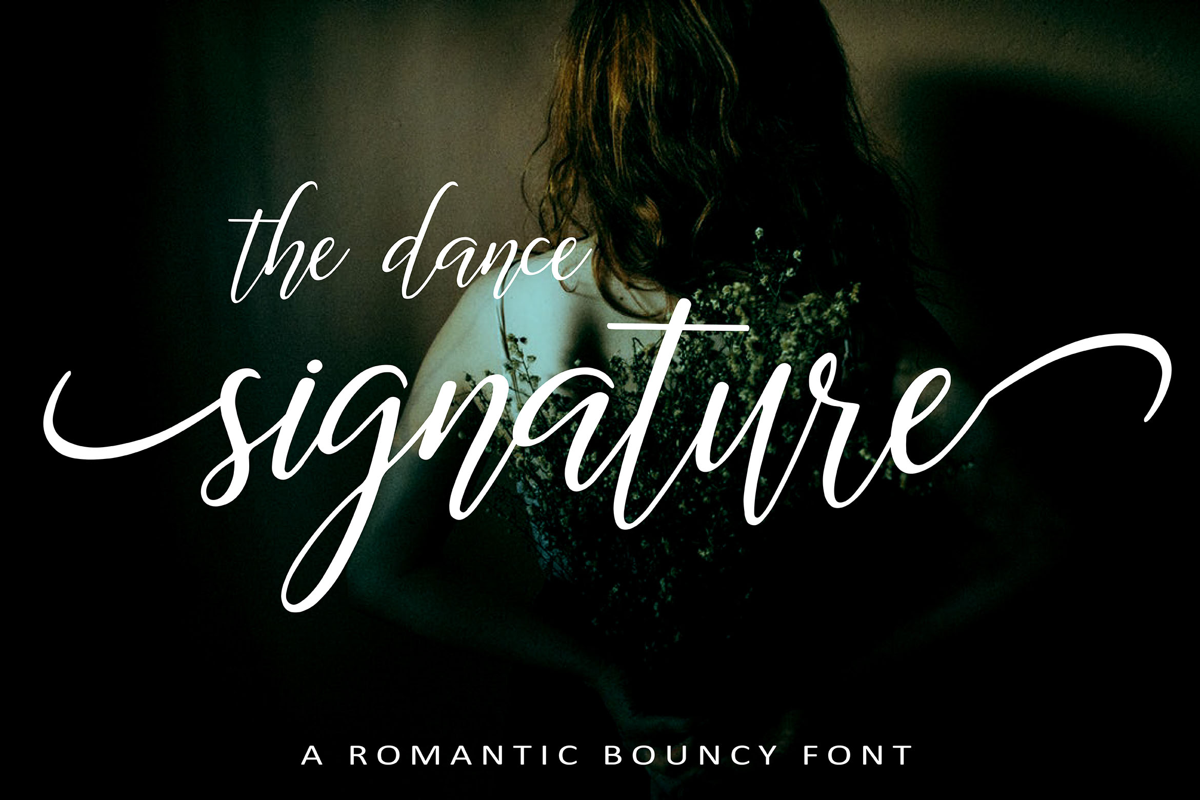 The Dance Signature   A BOUNCY FONT example image 1