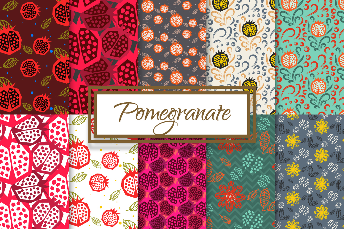 Pomegranate Seamless Paper Pack example image 1