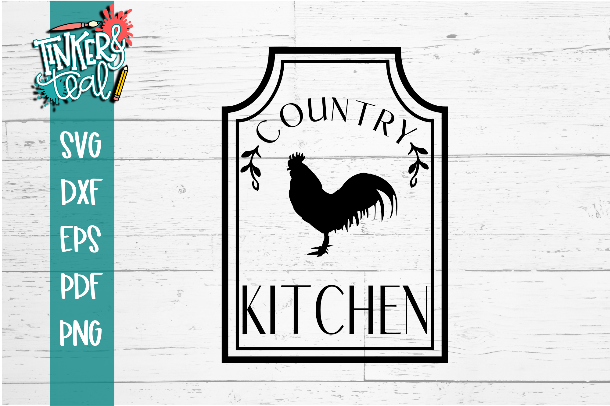 Rooster Farmhouse Country Kitchen SVG example image 2