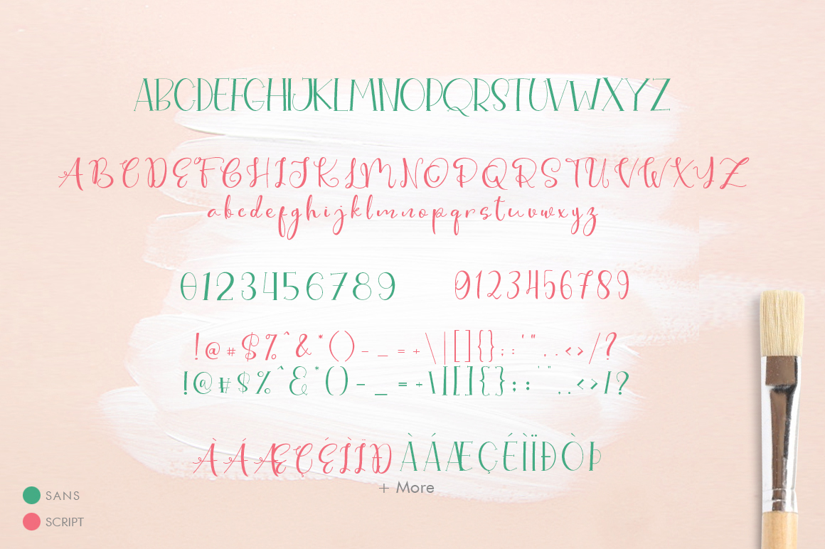Cute Thing Font Duo example image 9