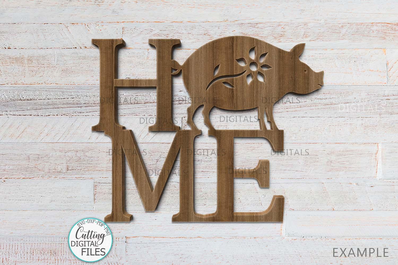 Home Love Farm sign bundle farmhouse style laser cut out svg example image 3