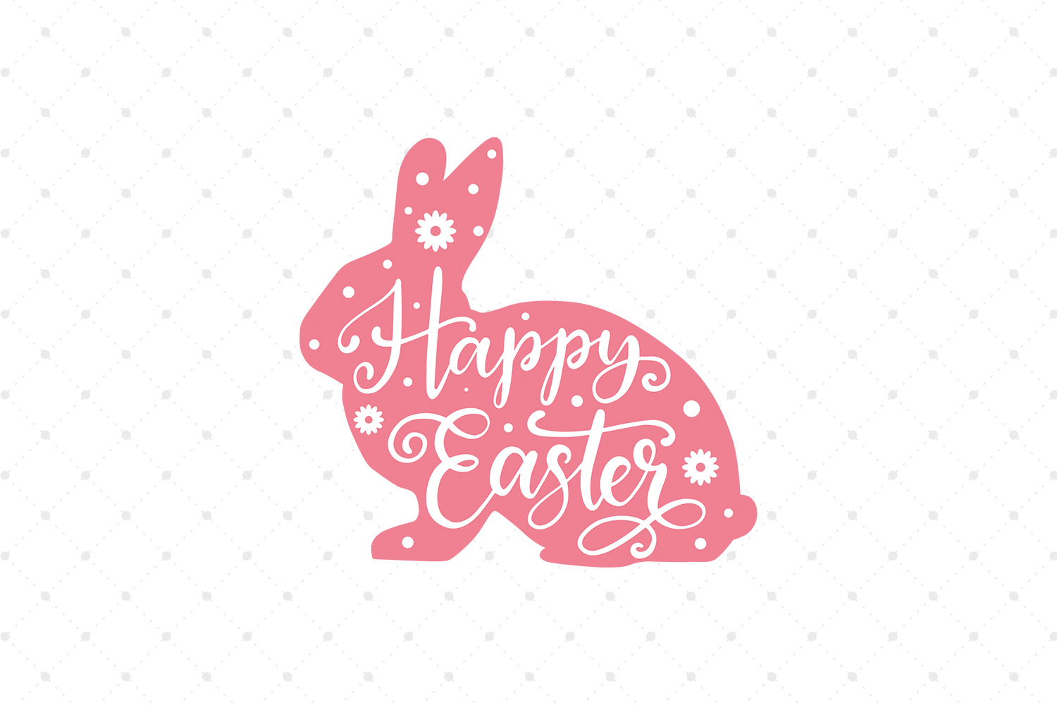 Happy Easter SVG Cut files example image 1