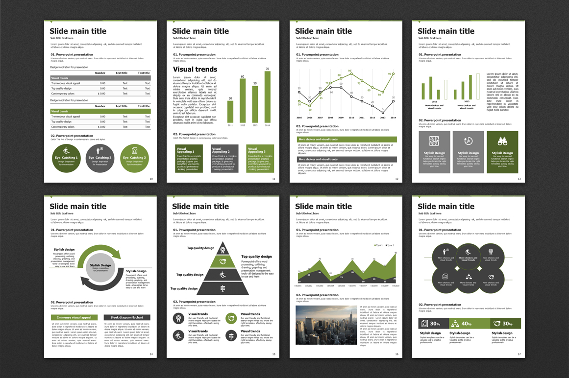 Triangle Powerpoint Template Vertical example image 3