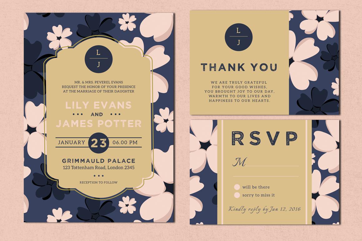 Bloomy - Wedding Invitation Suite example image 2