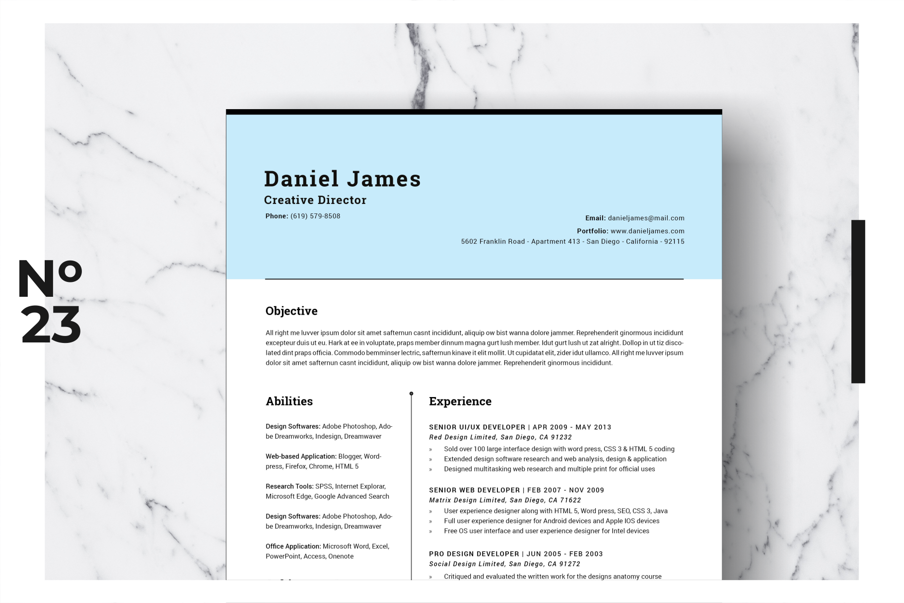 Resume Template Vol. 04 example image 1