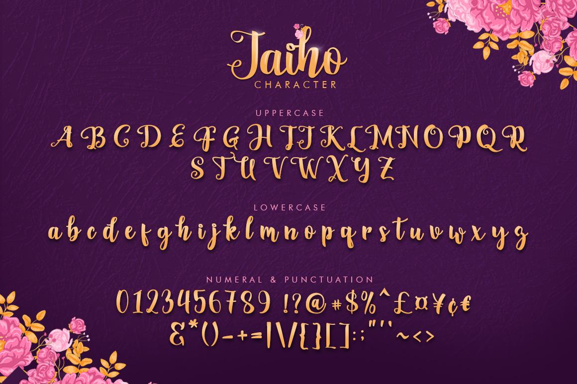 Jaiho Script (Duo Font) example image 6