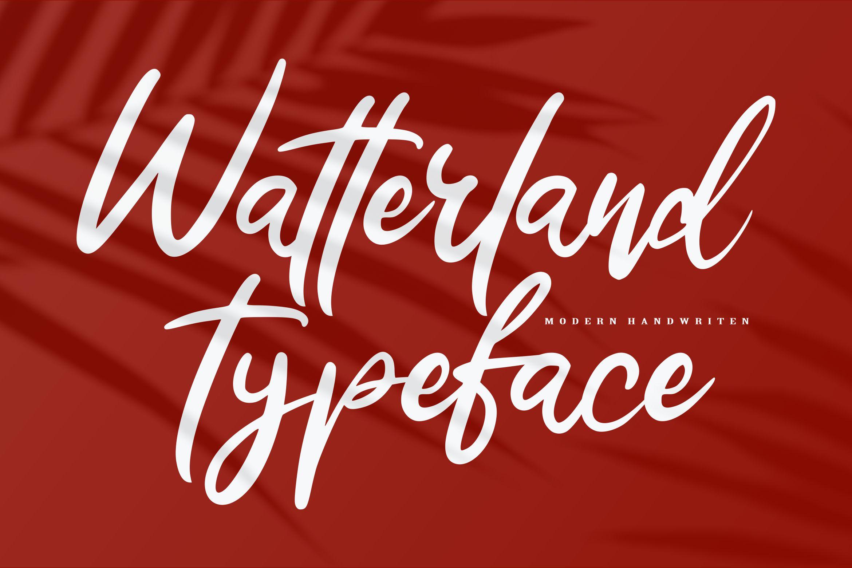 Watterland Typeface | Modern Handwriten Script example image 1