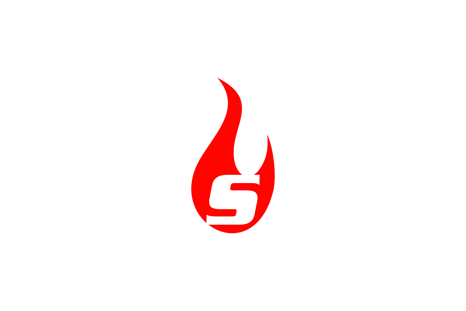 s letter flame logo example image 1