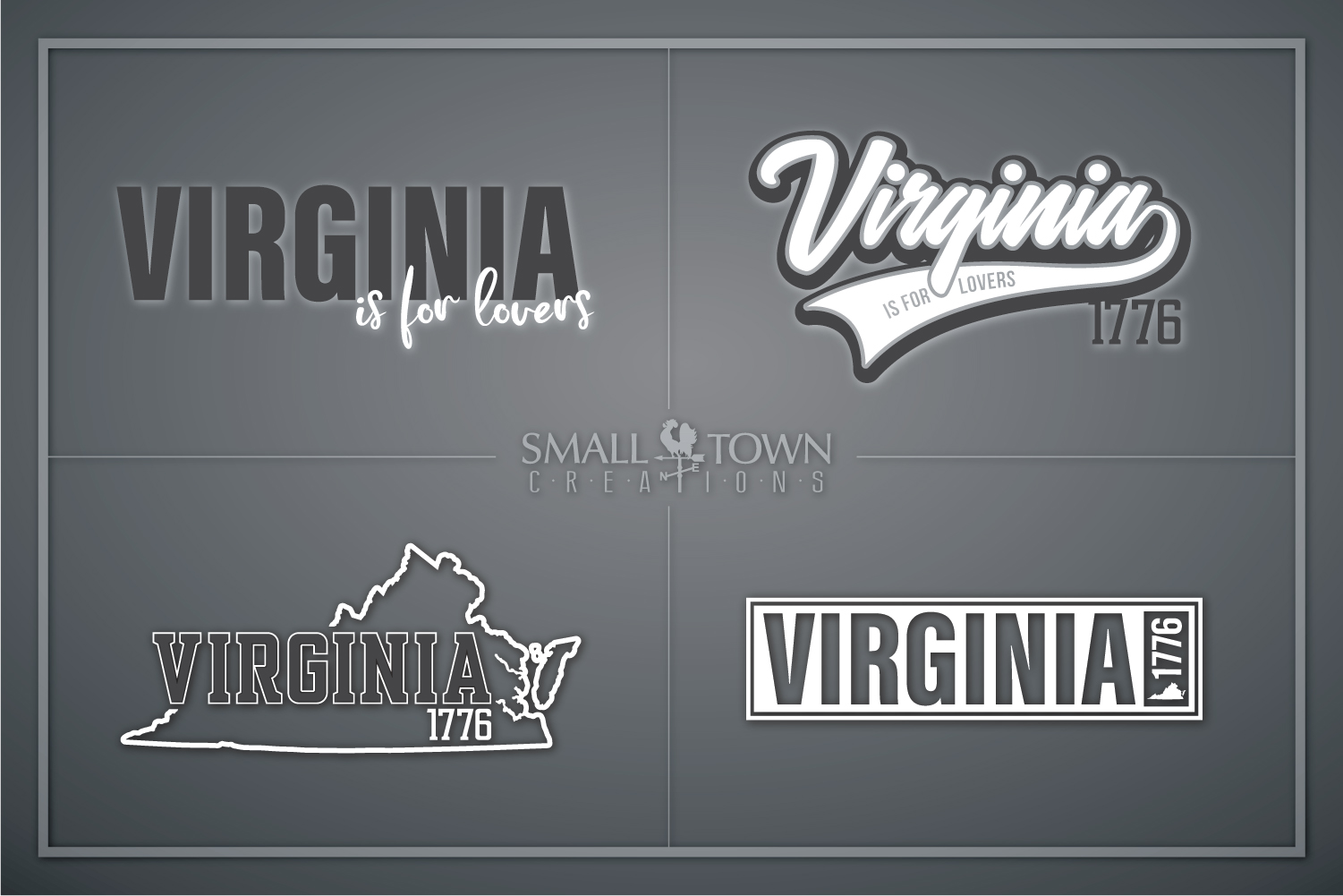 Virginia, Virginia is for Lovers-slogan, PRINT, CUT & DESIGN example image 1