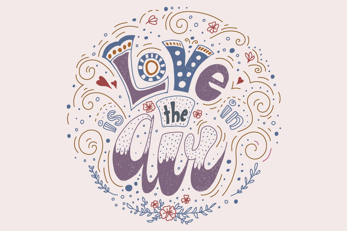 Lettering concept Love is in the Air example image 5