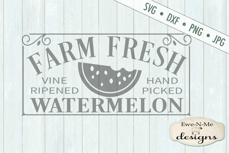 Farm Fresh Watermelon SVG DXF Files example image 2