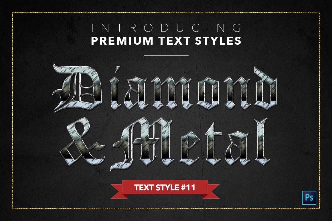 Diamond & Metal #1 - 15 Text Styles example image 12