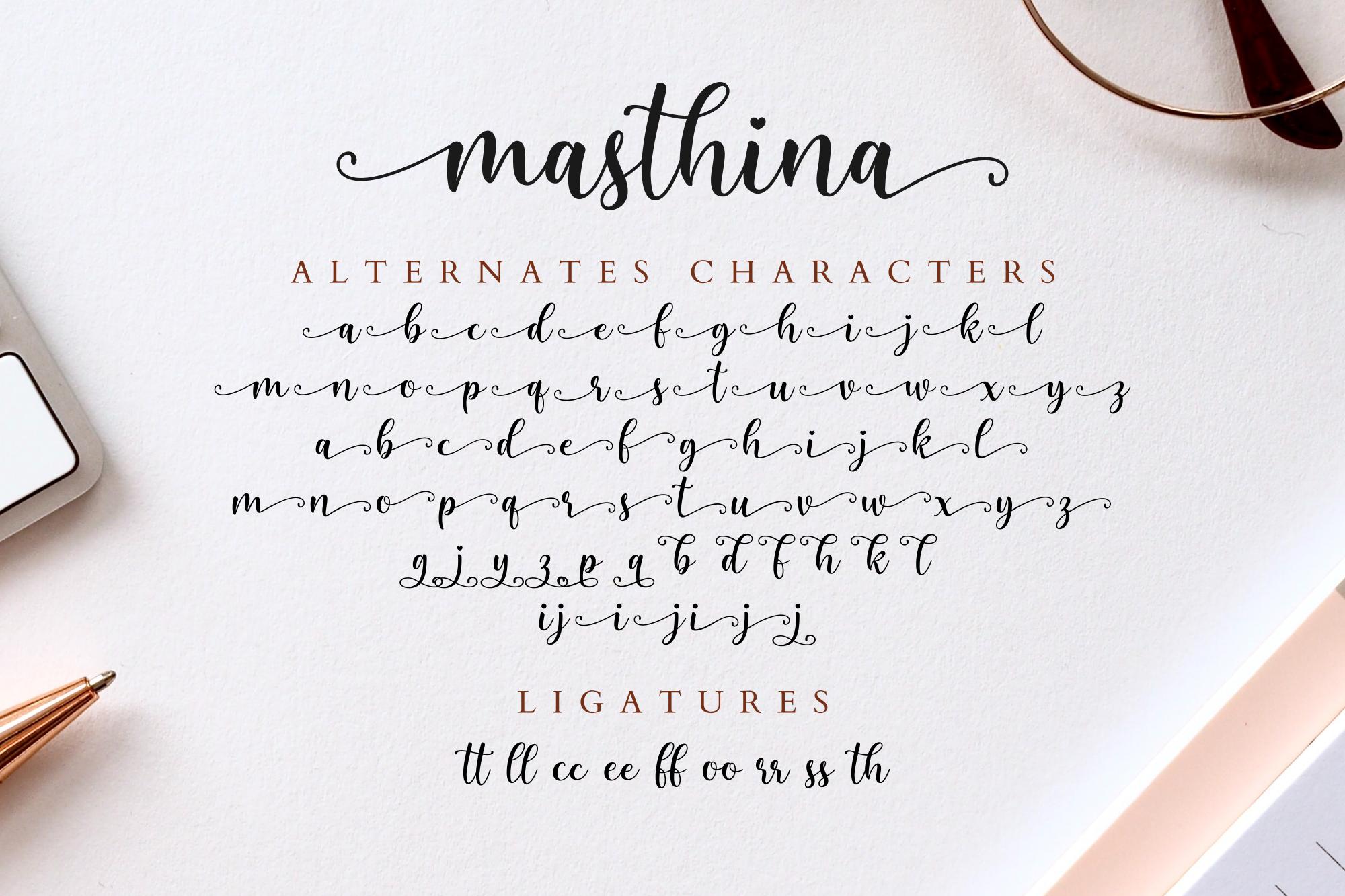 Masthina - Modern Calligraphy example image 11