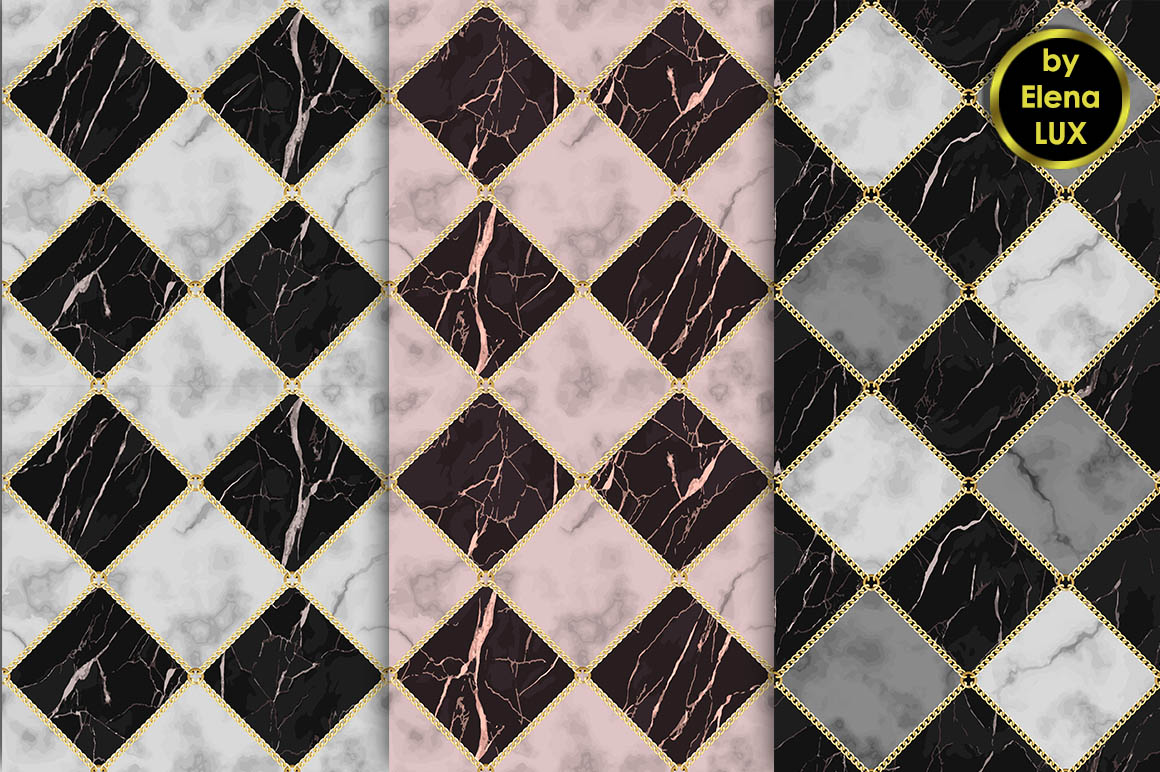 Marble and Chain Seamless Set example image 2
