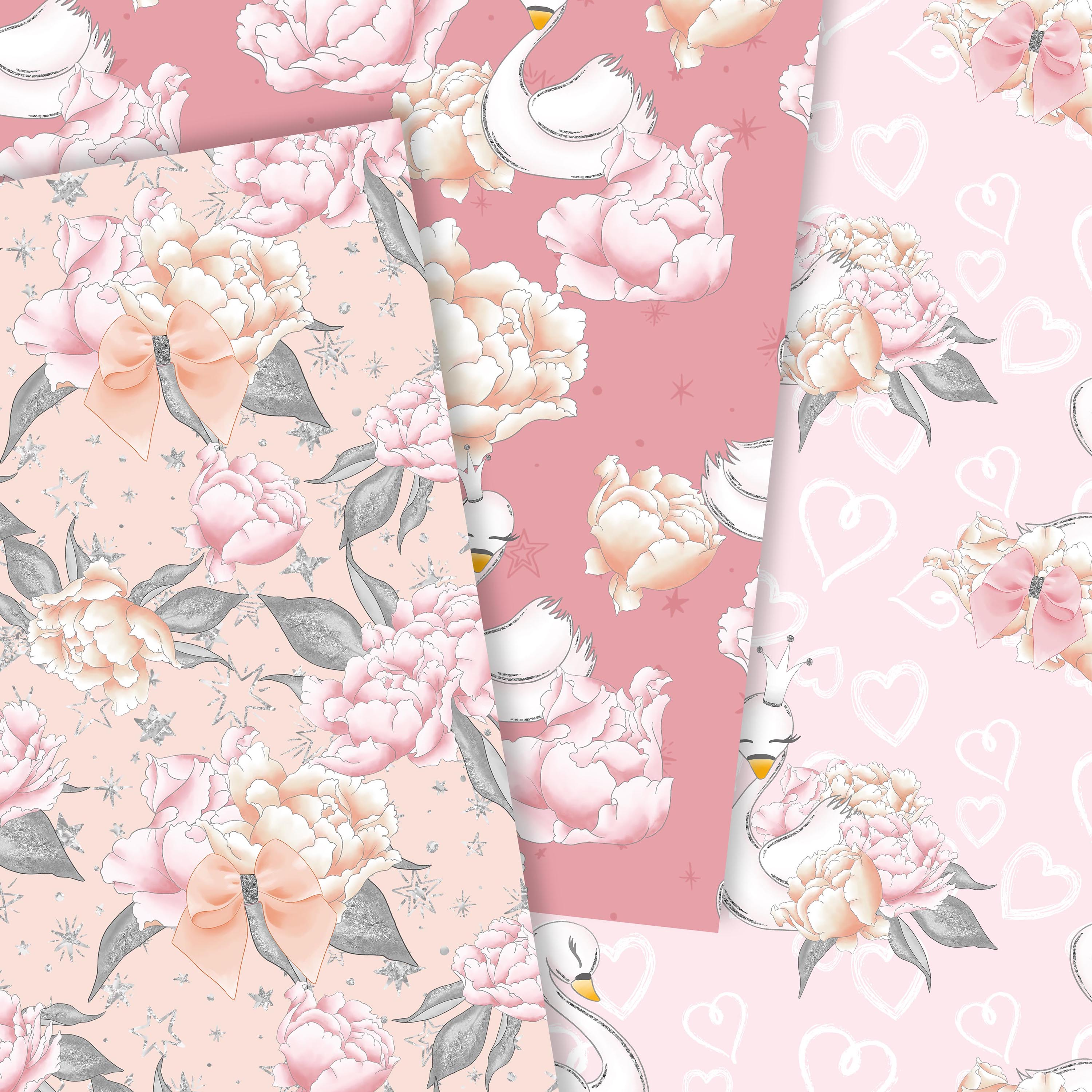 Wild swans patterns example image 2