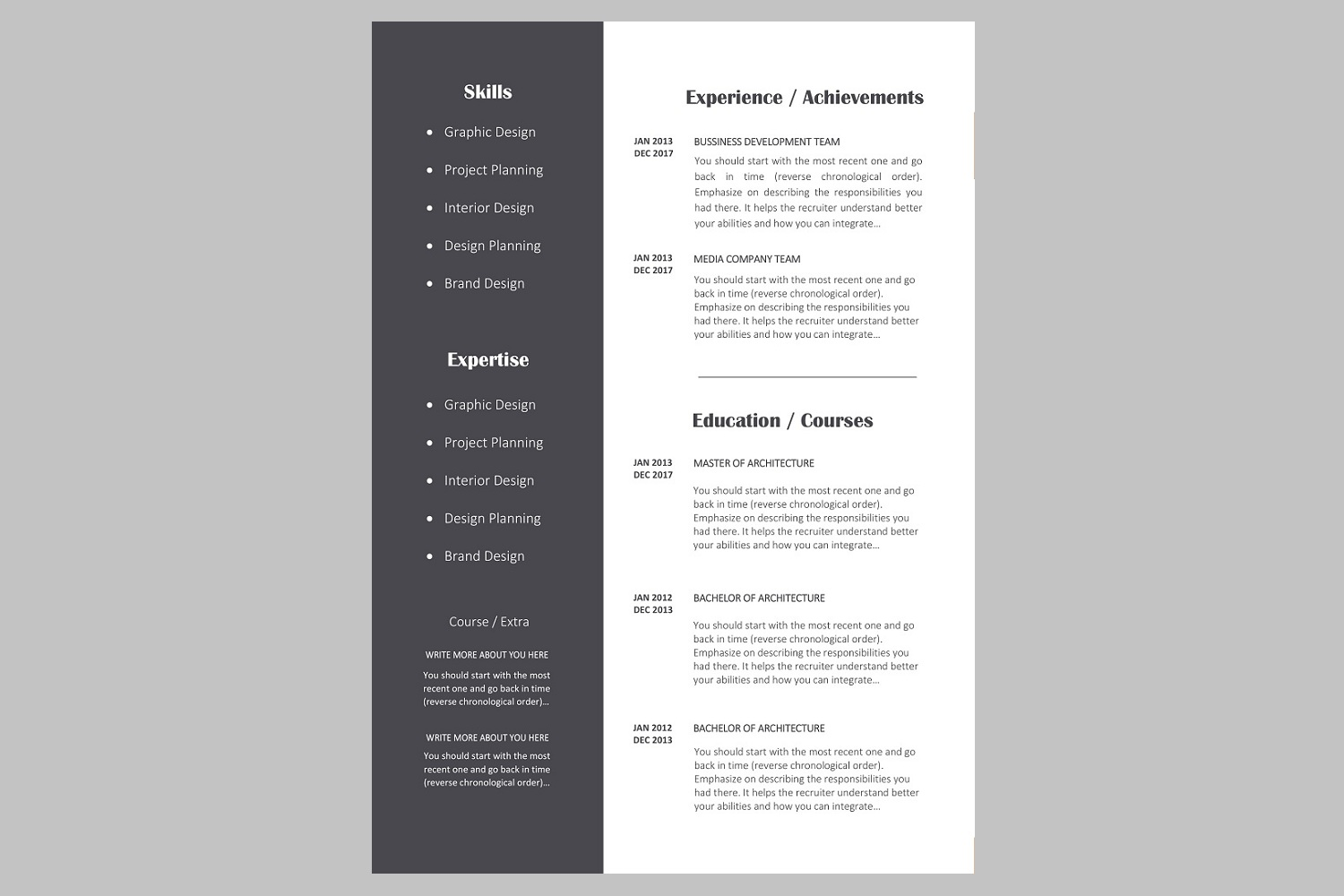 Creative resume template / CV. Bundle offer example image 11