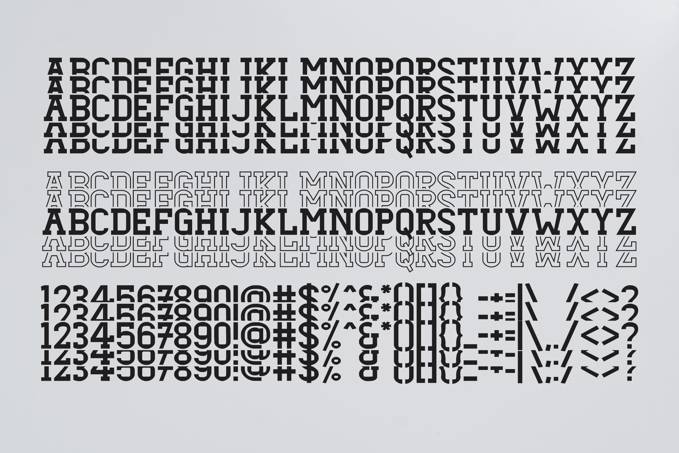 Dezire Stacked - Mirrored Font example image 3