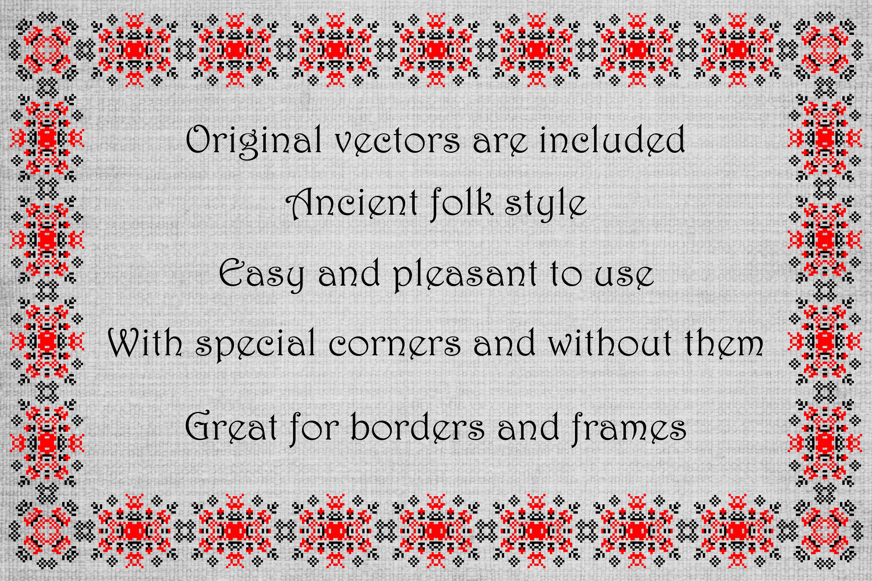 Ancient Folk Cross-Stitch Ornament-Adobe Illustrator Brushes example image 2