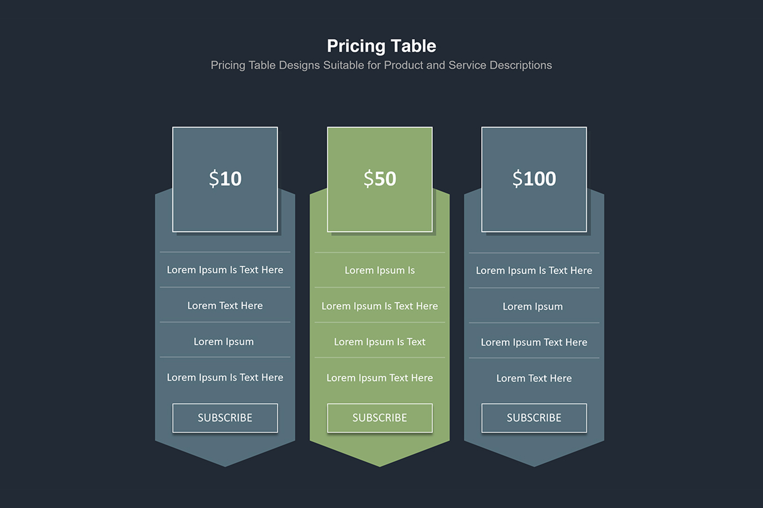 Price Table  Infographic Presentation example image 20