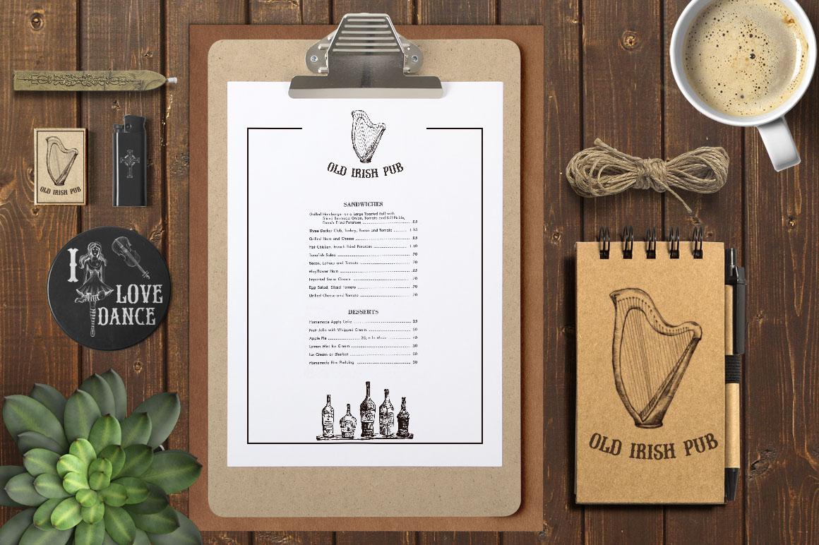Irish Pub Ink Vintage PS Brushes example image 5