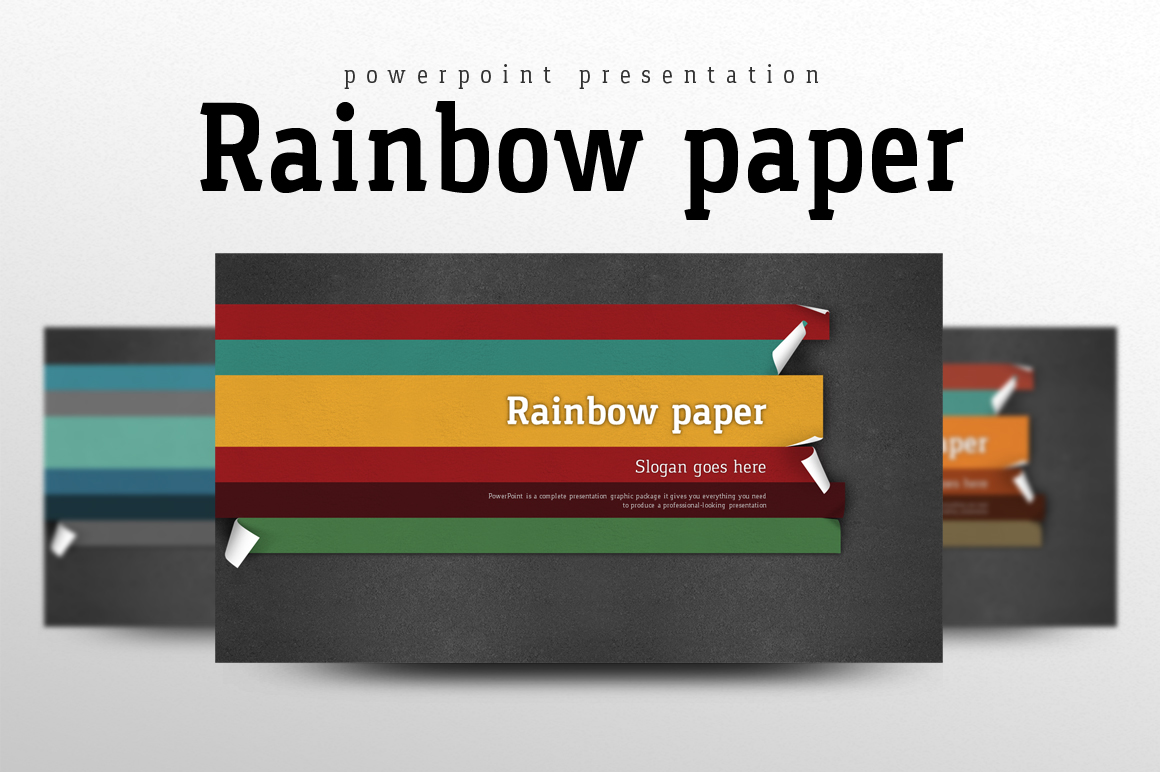 Rainbow Theme Powerpoint Wide example image 1