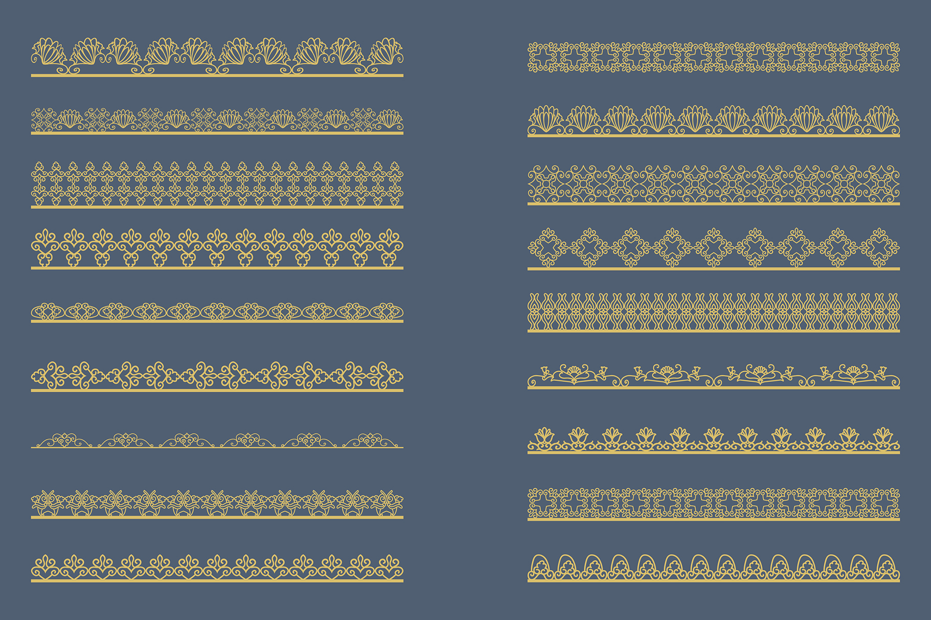 Bronze gold Lace Borders Clipart & Vectors example image 2