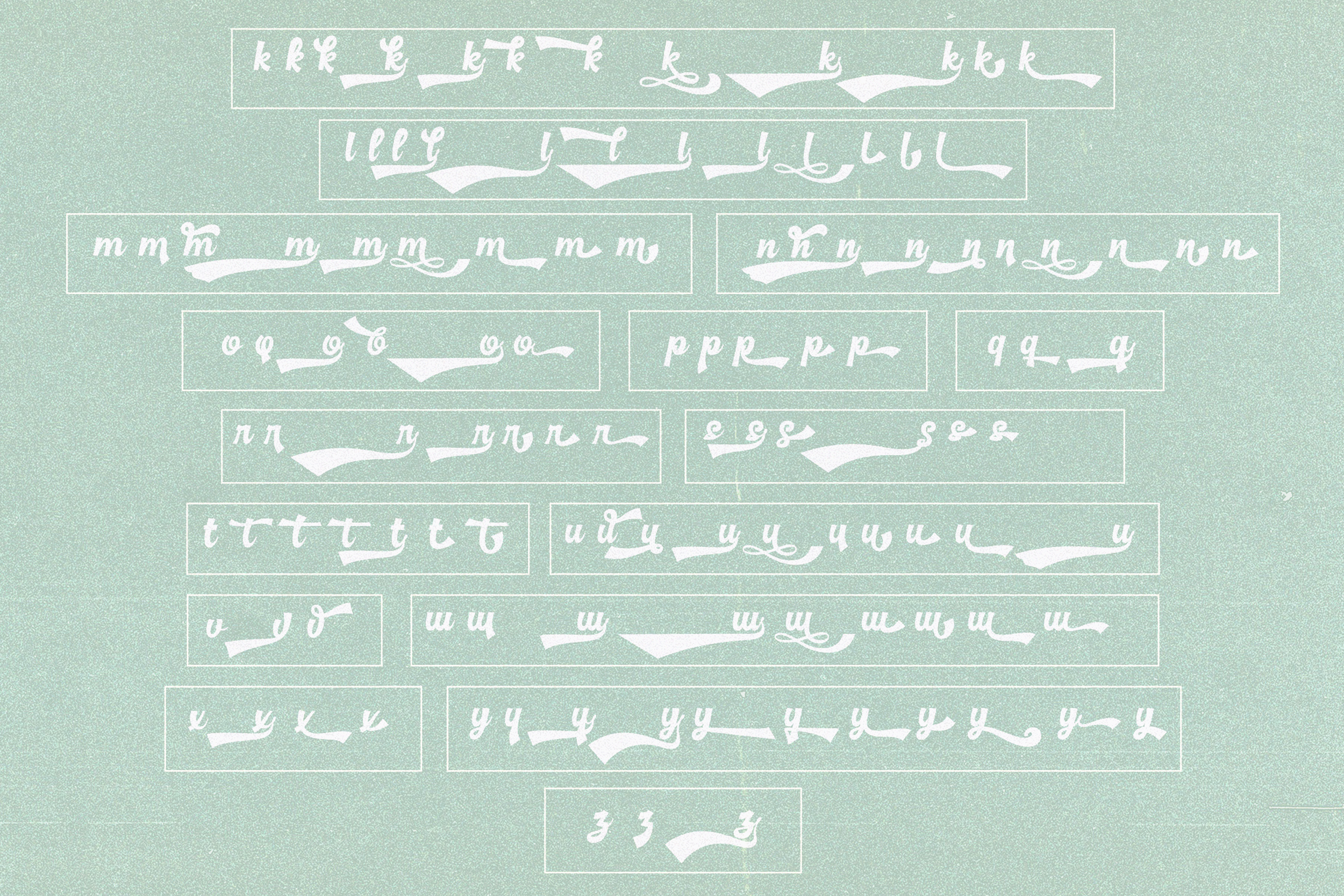 Basuki Script Font example image 12