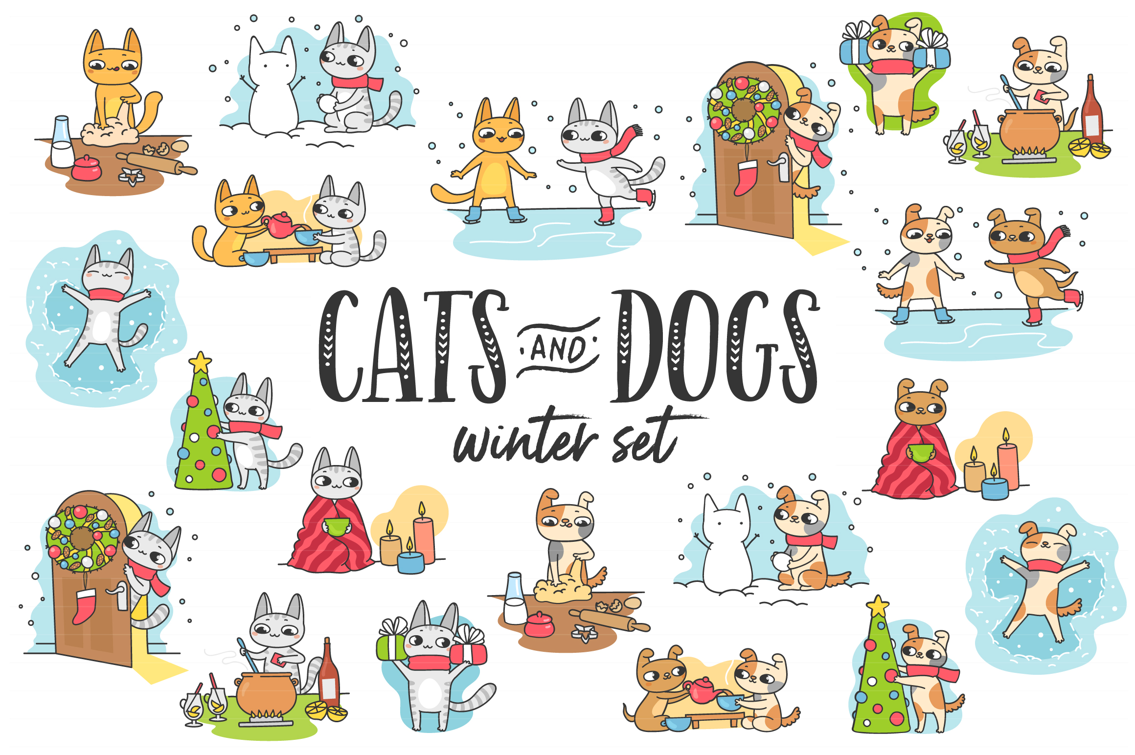 Cats&Dogs Winter Set example image 1