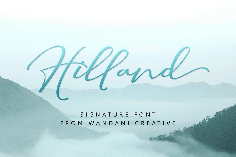 Hilland | A Signature Font example image 1