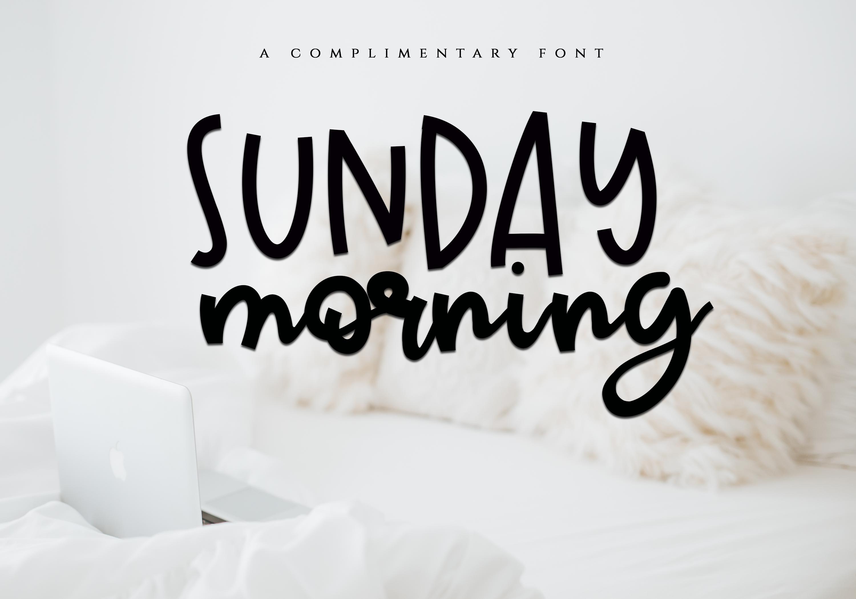 Sunday Morning - Script Font example image 1
