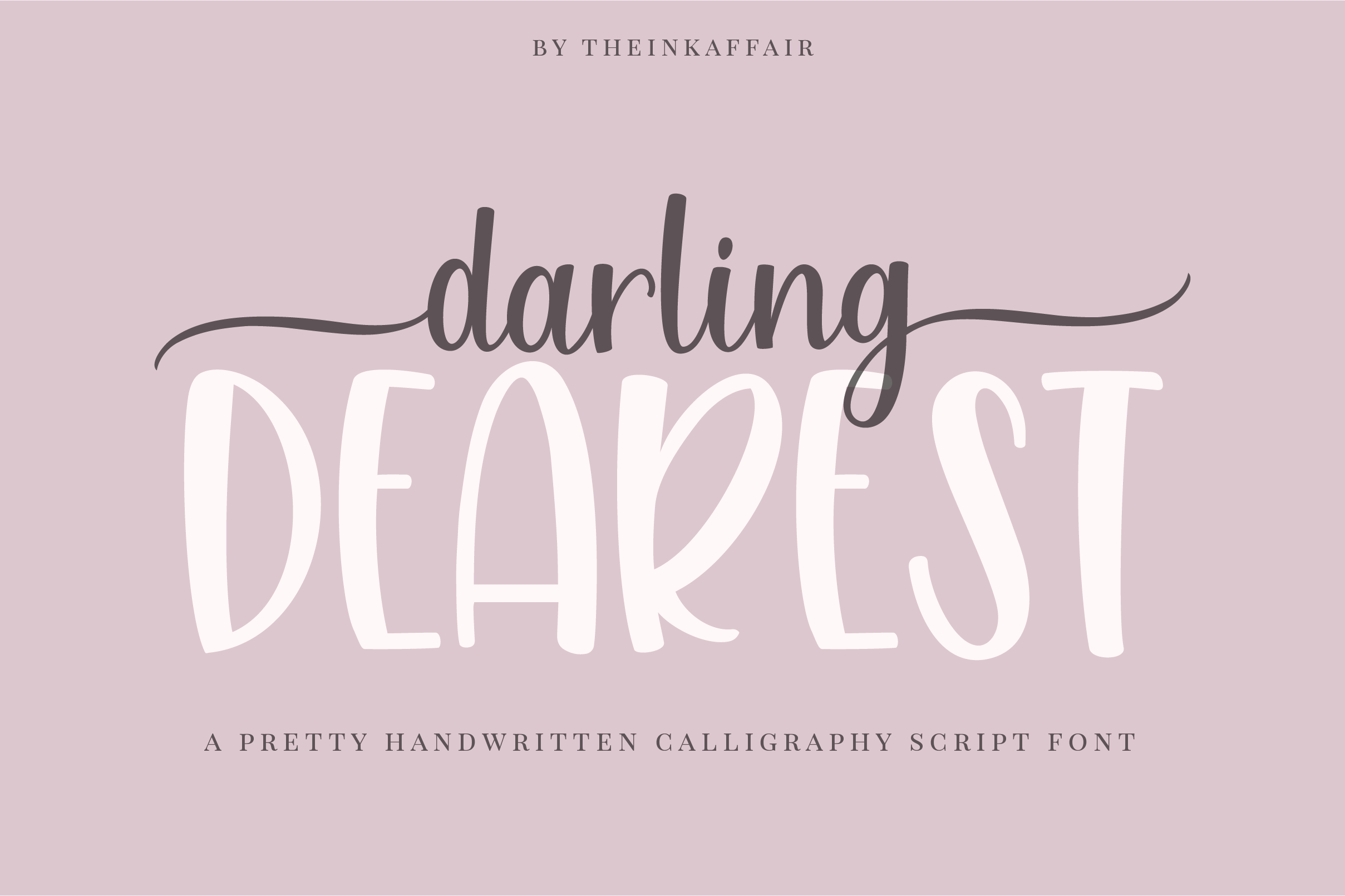 Darling dearest, a sweet calligraphy font example image 1
