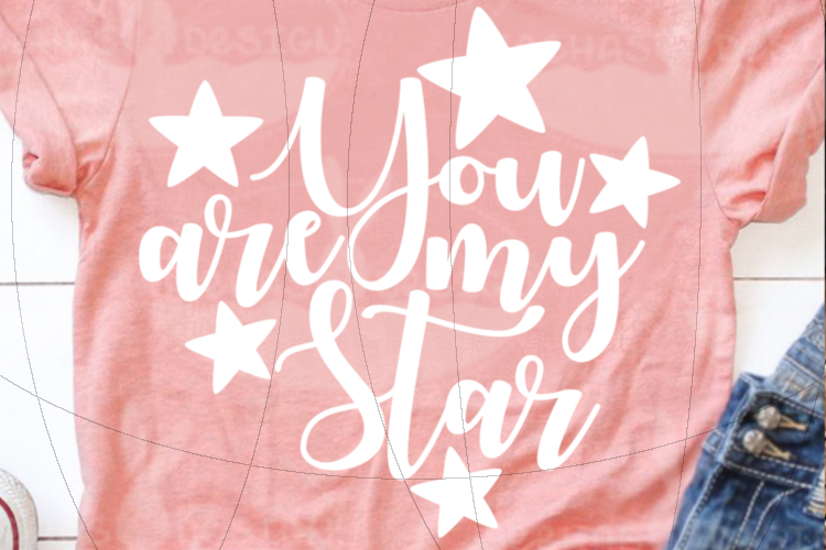 File You are my Star for Cutting Lasercut Print SVG PDF EPS example image 3