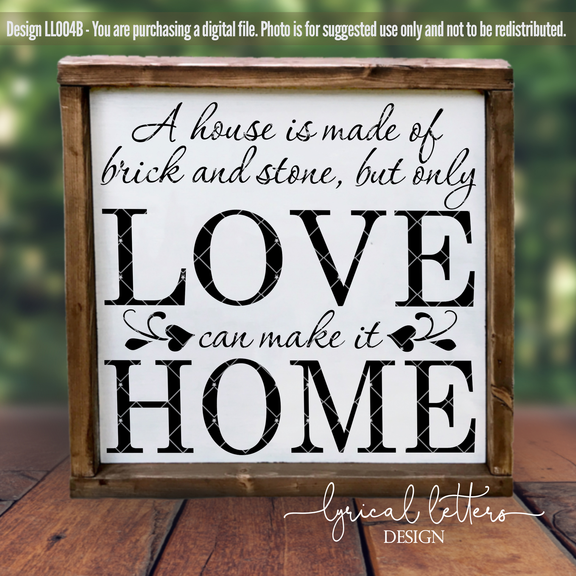 A House is Made of Brick and Stone SVG Cut File LL004A example image 2