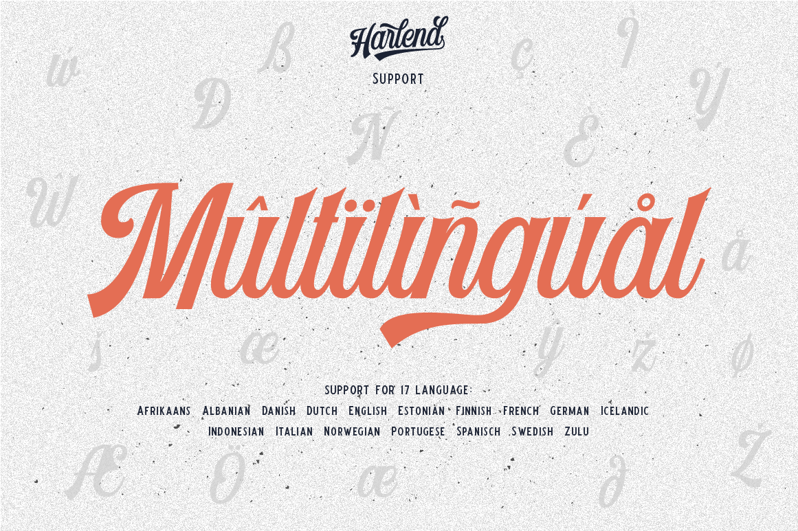 Harlend 6 fonts with extras intro example image 11