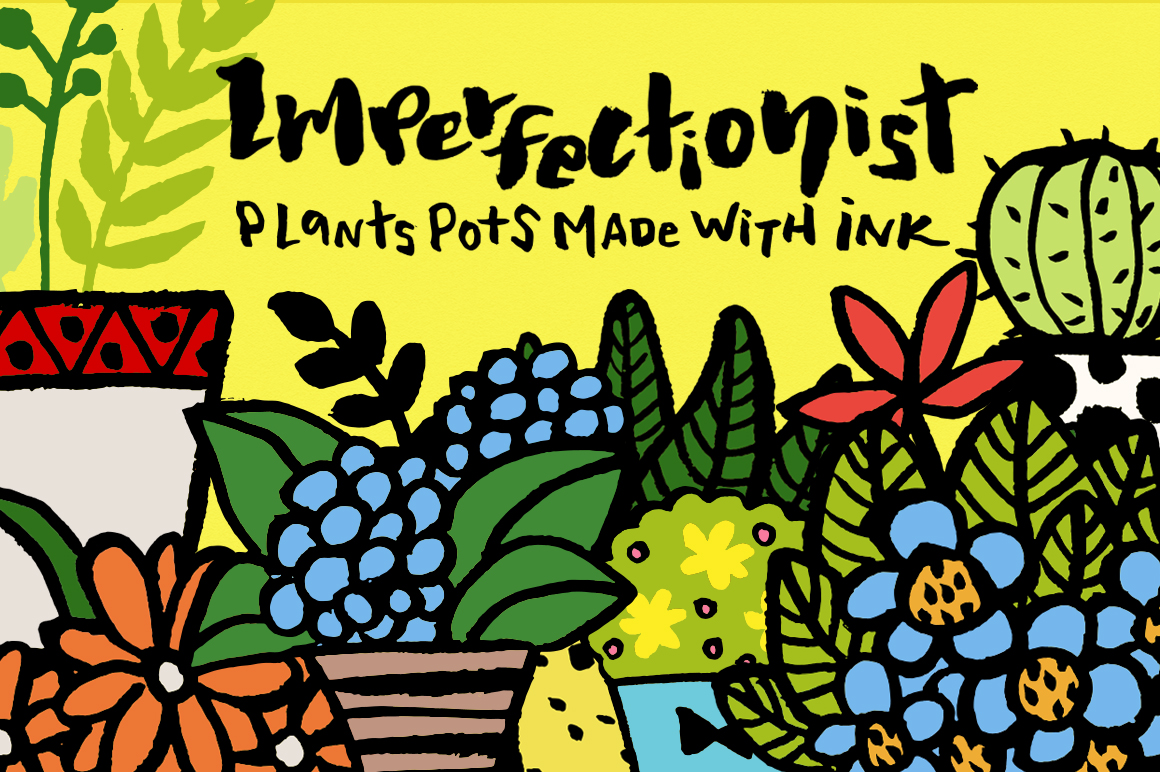 Imperfectionist - Inked Plant pots example image 1