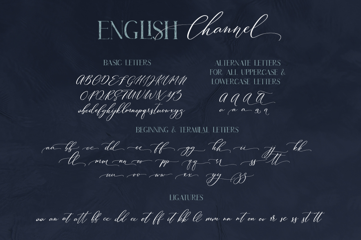 50 Off! English Channel. Duo Font example image 14