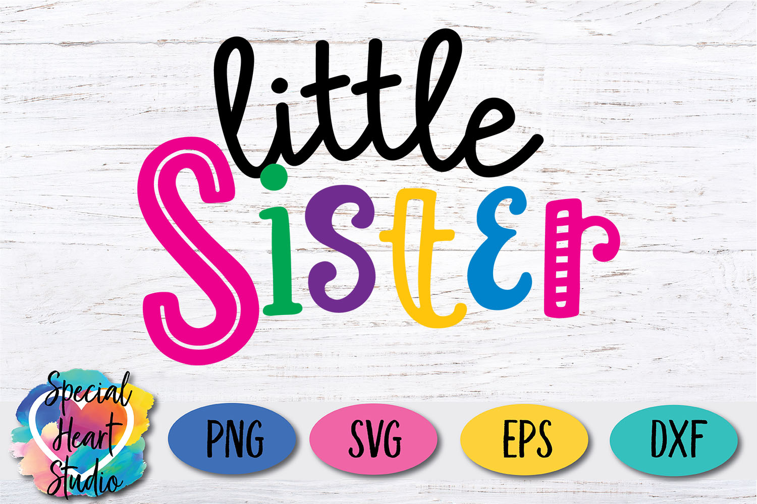 Little Sister - A family and sibling SVG example image 2